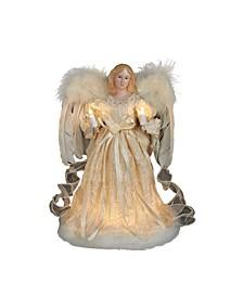 UL 10-Light 12-Inch Ivory Angel Treetop