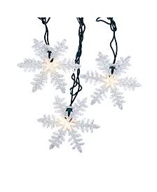 UL 10-Light White Snowflake Party Light Set