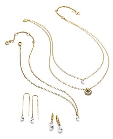 Gold-Tone Crystal Jewelry Separates