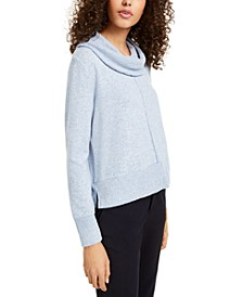 Juniors' Cowl-Neck Boxy Sweater
