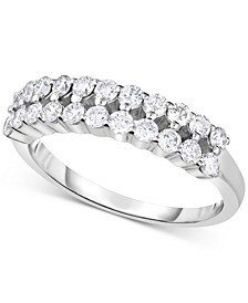 Lab-Created Diamond Two-Row Statement Ring (3/4 ct. t.w.) in Sterling Silver
