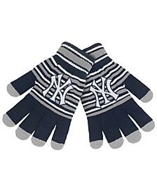 New York Yankees Acrylic Stripe Knit Glove