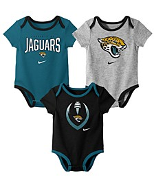 Baby Jacksonville Jaguars Icon 3 Pack Bodysuit Set
