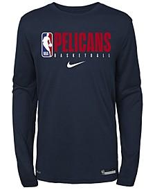 Big Boys New Orleans Pelicans Practice Long Sleeve T-Shirt