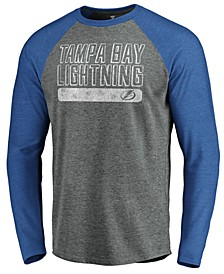 Men's Tampa Bay Lightning Enforcer Long Sleeve Tri-Blend T-Shirt