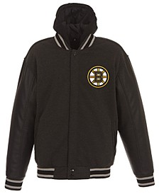 Men's Boston Bruins 2-Tone Reversible Fleece Jacket