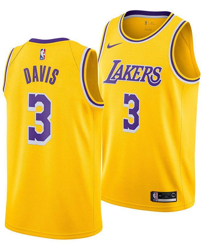 Nike Men's Anthony Davis Los Angeles Lakers Icon Swingman Jersey ...