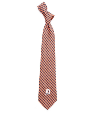 Detroit Tigers Poly Gingham Tie