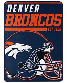 Northwest Company Denver Broncos Micro Raschel 40 Yard Dash Blanket