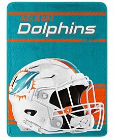 Miami Dolphins Micro Raschel Run Blanket