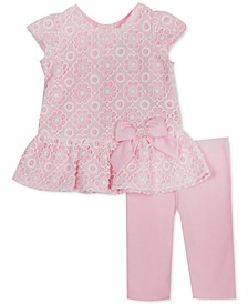 Baby Girls 2-Pc. Lace Top & Solid Leggings Set