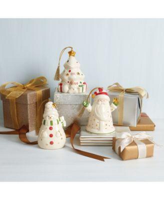 Lit House and Santa Scene Ornament