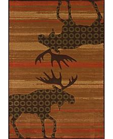 """Designer Contours Cem Urban Lodge 511 27329 28C Terracotta 2'7"""" x 7'4"""" Runner Rug"""