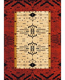 "Designer Contours Made True Arrow Pattern 514 32829 28C Terracotta 2'7"" x 7'4"" Runner Rug"