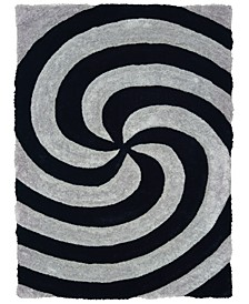 "Finesse Pinnacle 2100 21772 24 Gray 1'10"" x 3' Area Rug"