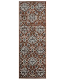 "Century Epoch 4500 10538 28E Orange 2'7"" x 7'2"" Runner Rug"