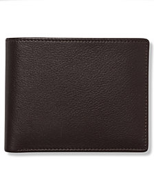 Perry Ellis Portfolio Men's Leather Park Avenue Bifold Wallet