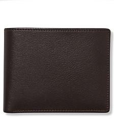 Perry Ellis Portfolio Men's Leather Park Avenue Bifold Wallet