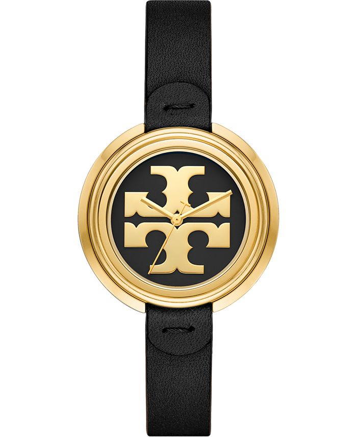 Tory Burch - Women's The Miller Black Leather Strap Watch 36mm