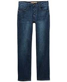 Men's Sarrant Classic-Fit Power Stretch Jeans with Magnetic Fly and Stay-Put Closure