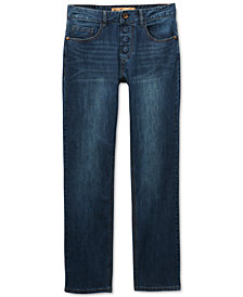 Seven7 Adaptive Men's Sarrant Classic-Fit Power Stretch Jeans with Magnetic Fly and Stay-Put Closure
