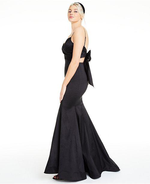 B Darlin Juniors' Bow-Back Mermaid Gown