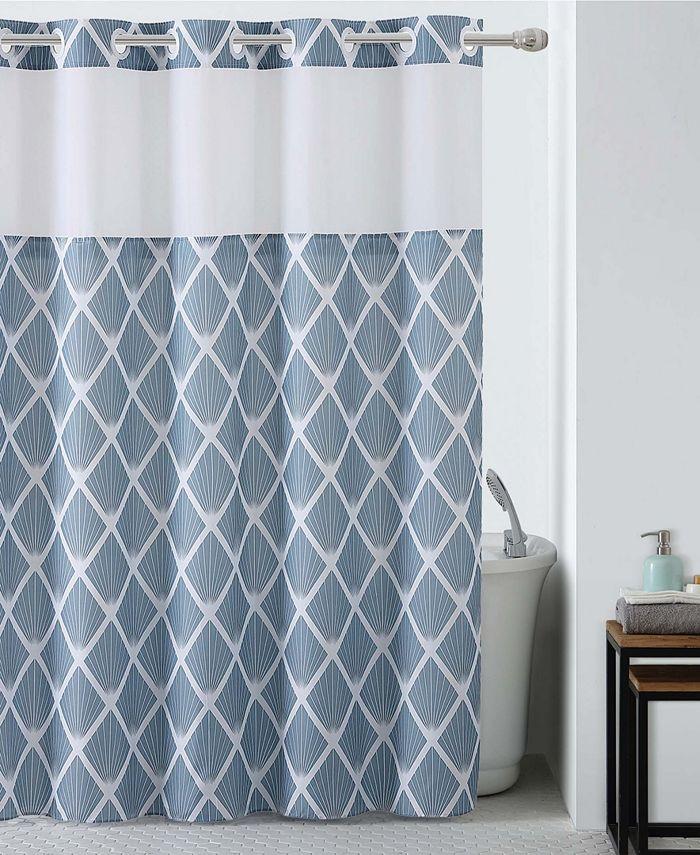 Hookless - Diamond Shower Curtain with Peva Liner