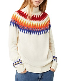 River Vhari Fair Isle Mock-Neck Sweater