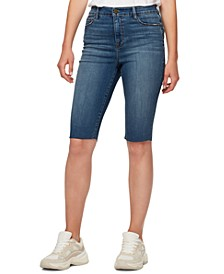 High-Rise Skimmer Jean Shorts
