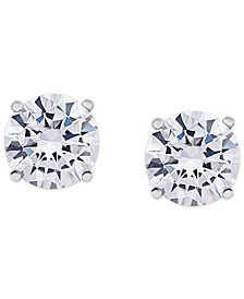 Cubic Zirconia Round Stud Earrings in Fine Silver Plate, 8 ct. t.w.
