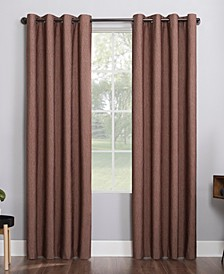 """Noir 52"""" x 84"""" Textured Thermal Blackout Curtain Panel"""