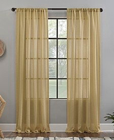 "Crushed Texture 52"" x 63"" Anti-Dust Sheer Curtain Panel"