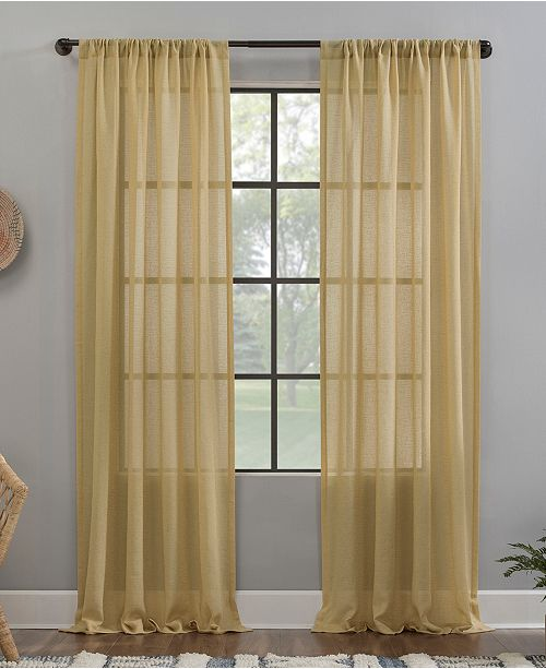 """Clean Window Crushed Texture 52"""" x 63"""" Anti-Dust Sheer Curtain Panel"""