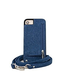 Crossbody 6 or 6S or 7 or 8 IPhone Case with Strap Wallet