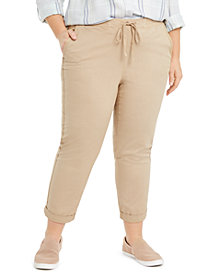 Style & Co Plus Size Twill Tape Utility Pants, Created for Macy's