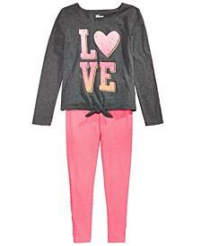 Big Girls Love T-Shirt & Striped Leggings, Created For Macy's