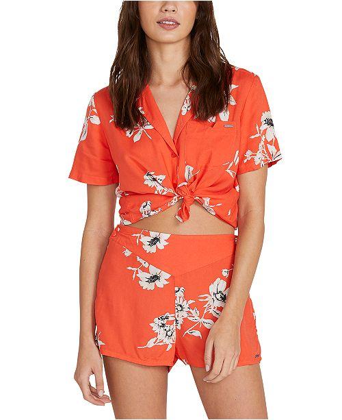 Volcom Juniors' Floral-Print Shorts