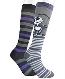 Women's 2-Pk. Nightmare Before Christmas Jack Chillin Knee-High Socks