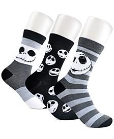 Women's 3-Pk. Nightmare Before Christmas Crew Socks