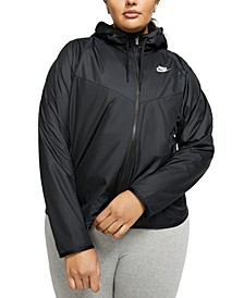 Plus Size Windrunner Hooded Jacket