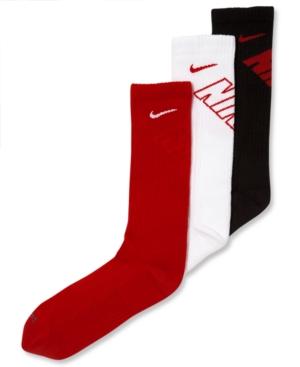 Nike 3Pk Cushioned Crew Socks Little Boys (47)  Big Boys (820)