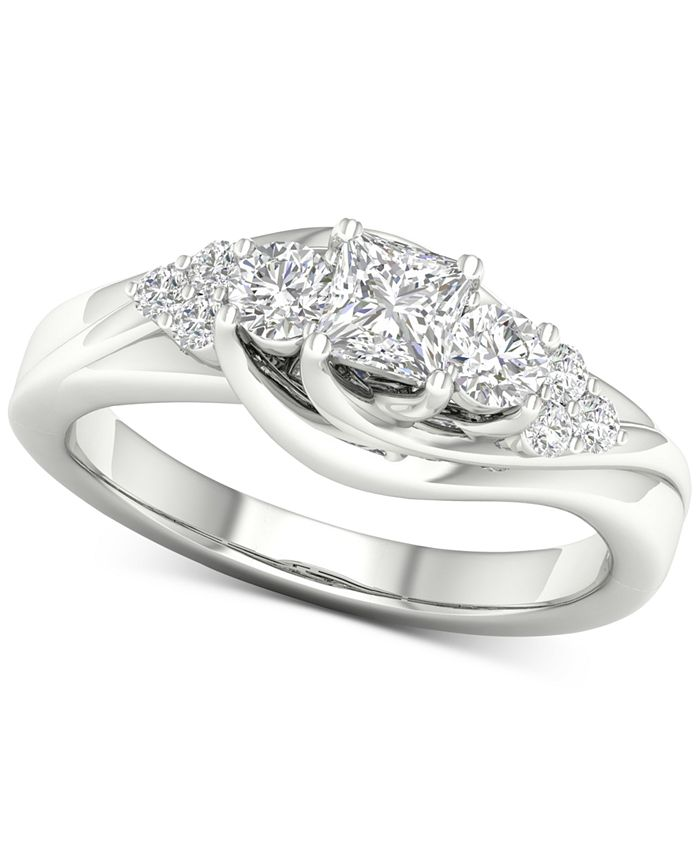 Macy's - Diamond Princess Engagement Ring (3/4 ct. t.w.) in 14k White Gold