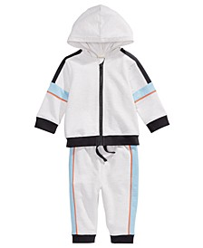 Baby Boys 2-Pc. Colorblocked Zip-Up Hoodie & Jogger Pants, Created For Macy's