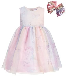 Little Girls Unicorn & Butterfly Dress