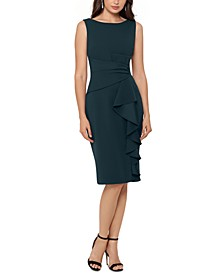 Cascading Ruffle Sheath Dress