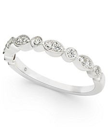 Diamond Milgrain Stack Band (1/5 ct. t.w.) in 14k White Gold
