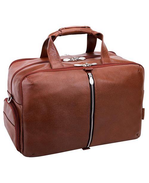 """McKlein Avondale 22"""" Triple Compartment Travel Laptop Duffel"""