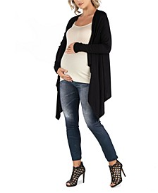 Classic Long Sleeve Open Maternity Cardigan