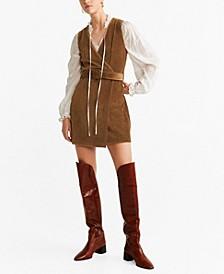 Corduroy Belt Dress