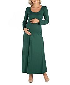 Long Sleeve T-Shirt Maternity Maxi Dress